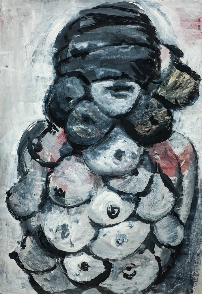 Self-portrait with breasts-des